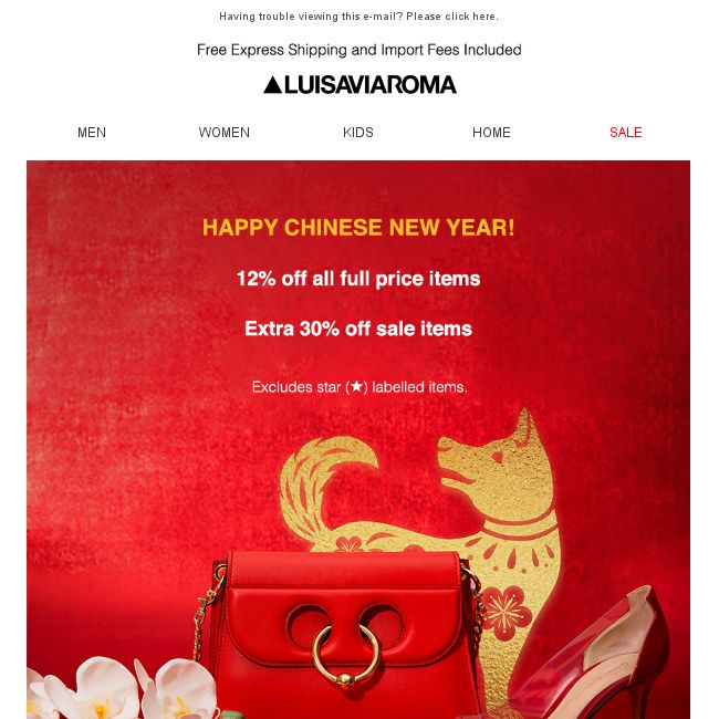 LUISAVIAROMA  HAPPY CHINESE NEW YEAR! - 👑BQ.sg BargainQueen 3a008602a
