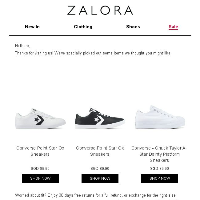Zalora  Are you still shopping for Sneakers  - 👑BQ.sg BargainQueen 448b70569