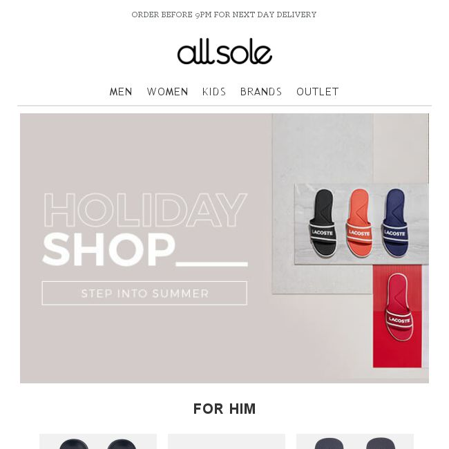 Allsole  Step into summer with The Holiday Shop - 👑BQ.sg BargainQueen 923d9c1d2bb11