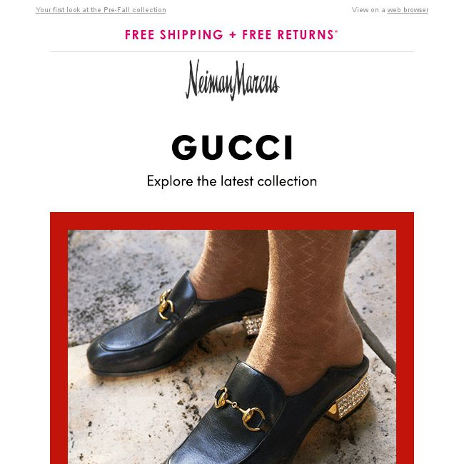 32776f3264a  Neiman Marcus  New Gucci  Shoes
