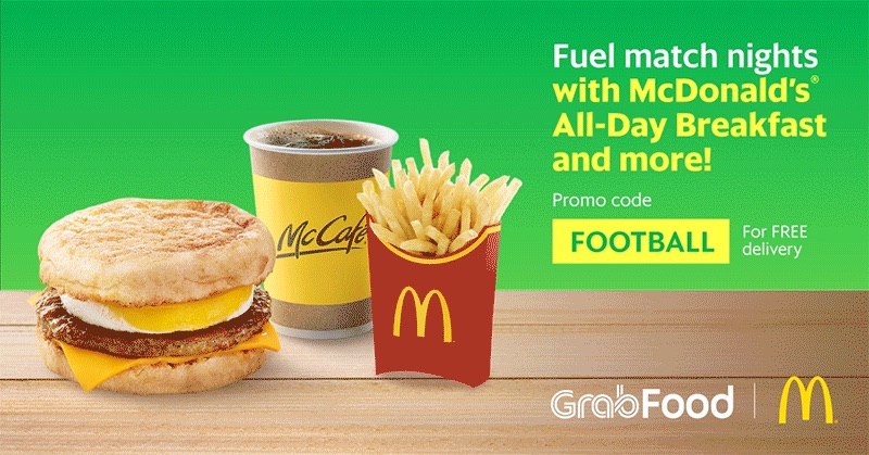 3f1f5f7a89a2 Till 16 Jul 2018 Grab  Make a Late Night McDonald s® Order via GrabFood    Earn Yourself  5 OFF a Grab ride!