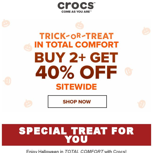 e2500887f  Crocs Singapore  A Special Treat for you🍭 40% off Sitewide - 👑BQ.sg  BargainQueen
