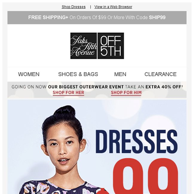 433cf047bd26 [Saks OFF 5th] Your Cole Haan item is waiting! + Dresses under $99? Sign us  up. - 👑BQ.sg BargainQueen