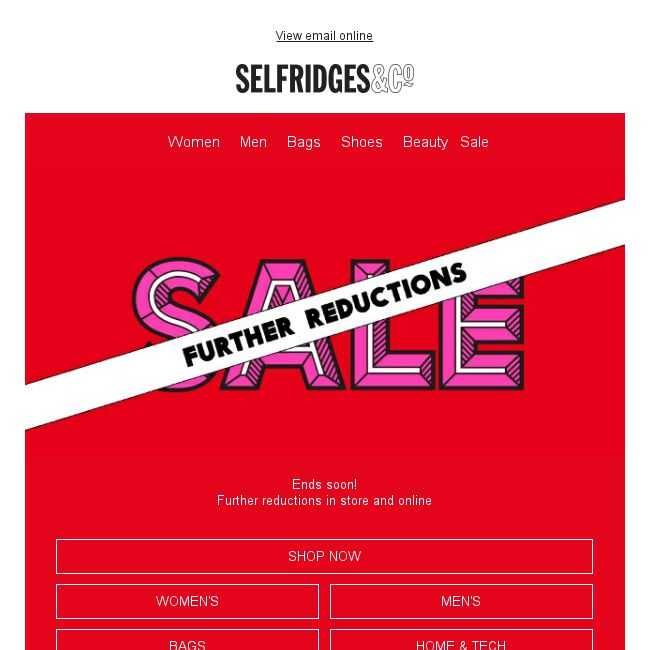 4de4fd40be0e  Selfridges   Co  Further sale reductions online and in store now - 👑BQ.sg  BargainQueen