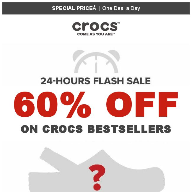 65da2da0d784  Crocs Singapore   1 DEAL a DAY   One pair👡 60% off for 1 Day ONLY   starting from TODAY!