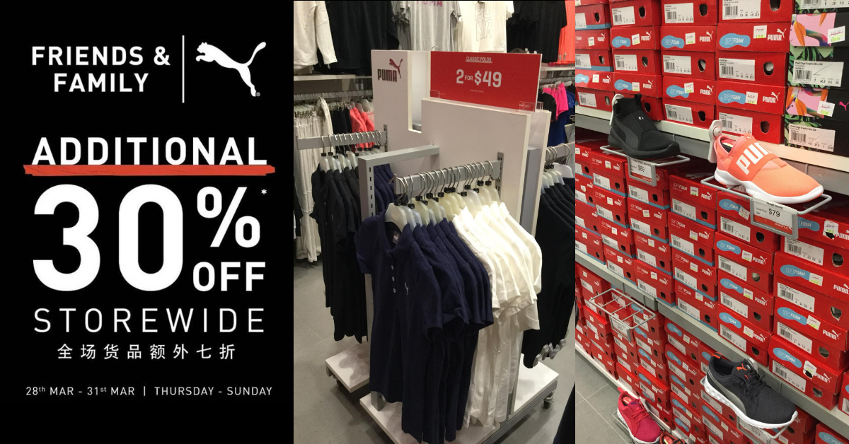 PUMA Outlet: Friends \u0026 Family Sale with