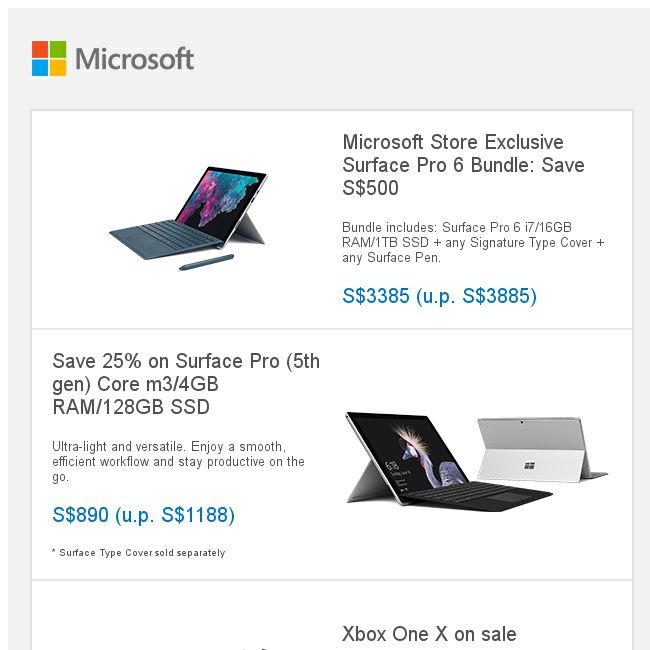 Microsoft Store] Microsoft Store Exclusive Surface Pro 6 bundle