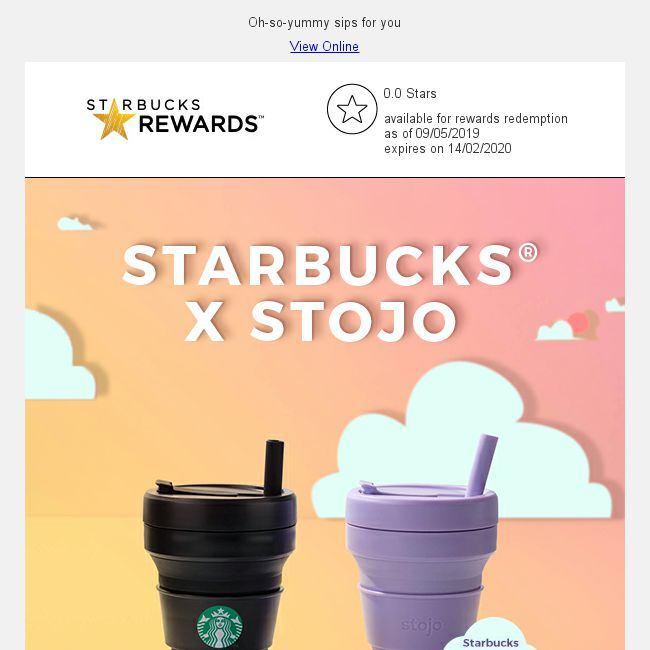 8c48d2e70e6 Starbucks] Starbucks® x Stojo collapsible cup is back in new colors ...