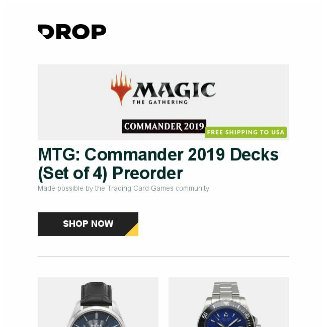 Massdrop] MTG: Commander 2019 Decks (Set of 4) Preorder