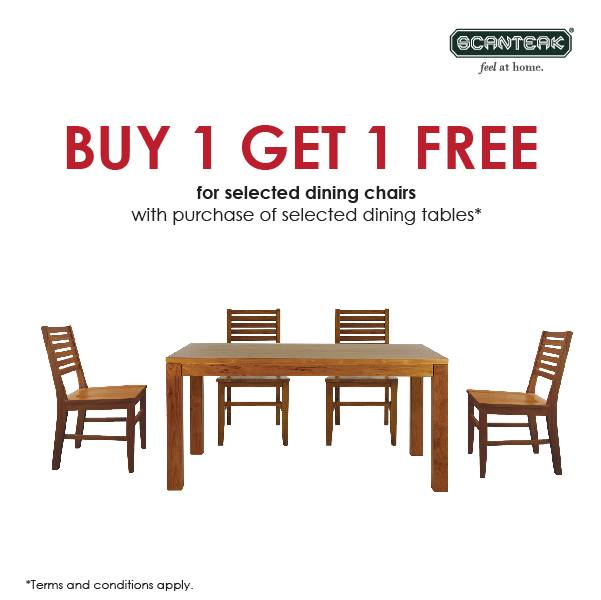Scanteak 2 For The Price Of 1 For Selected Teak Dining Chairs Bq Sg Bargainqueen